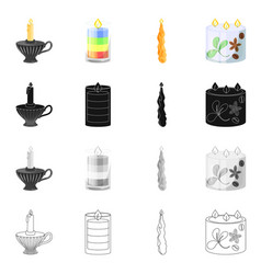 Isolated object of relaxation and flame sign vector