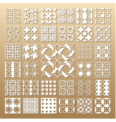 laser cut panels vector image