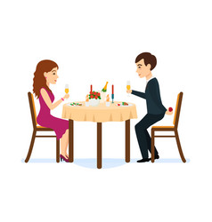 male wants make offer to beloved girl vector image