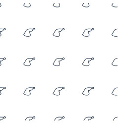 meat leg icon pattern seamless white background vector image
