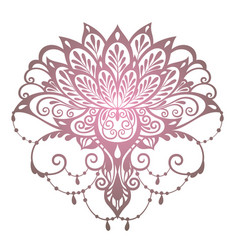 mehndi lotus flower vector image