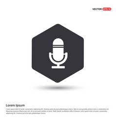 Microphone icon hexa white background icon vector