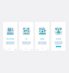 oil gas extraction line industry ux ui onboarding vector image