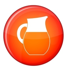 Pitcher of milk icon flat style vector