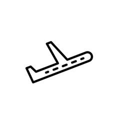 plane icon airplane sign vector image