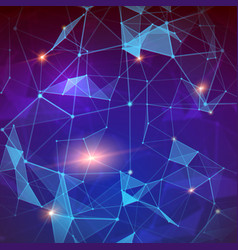 plexus modern abstract geometric background vector image