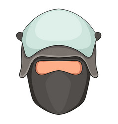 policeman head in a face mask icon cartoon style vector image vector image