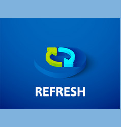 refresh isometric icon isolated on color vector image