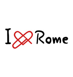 rome love icon vector image