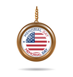 round medallion for memorial day vector image