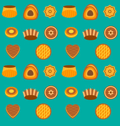 seamless pattern cakes and pie vector image