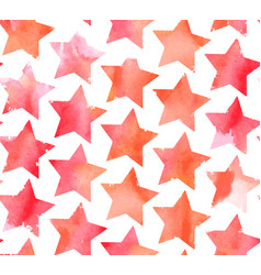 seamless watercolor stars pattern vector image