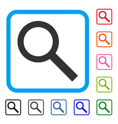 Search framed icon vector