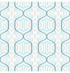 simple Moroccan pattern in blue and white vector image