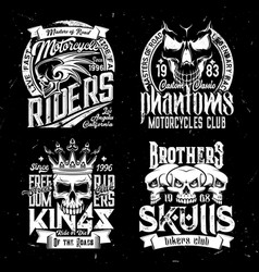 skull t-shirt print mockup racing sport club vector image