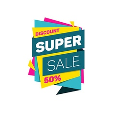 Special offer super sale tag discount banner vector image