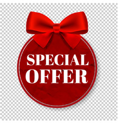 Special offer tag transparent background vector