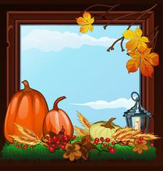 stylish poster on theme of golden autumn vector image