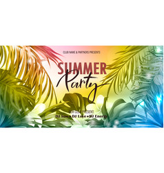 summer party bannerbeautiful background vector image