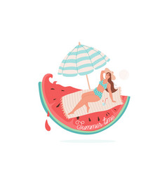 summer time beautiful smiling vector image