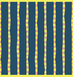 Vertical irregular hand drawn stripes blue pink vector