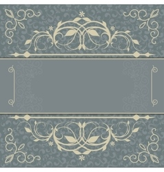 Vintage luxury card vector image