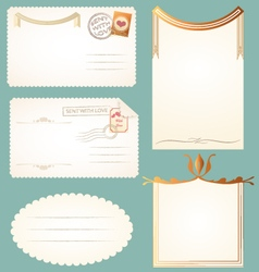 vintage postcards cards notes backgrounds frames vector image