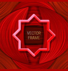 Volumetric colored frame on saturated background vector