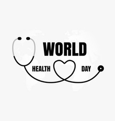 world health day concept medicine and healthcare vector image