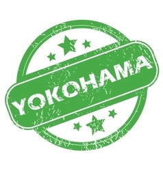 Yokohama green stamp vector