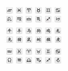 astrological zodiac sign set vector image vector image