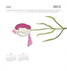 calendar for 2012 vector image vector image
