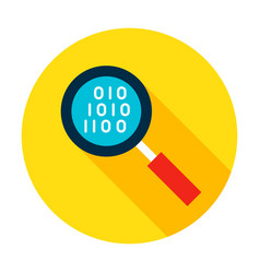 data search flat circle icon vector image