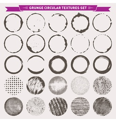 Grunge Circular Textures Backgrounds Frames vector image