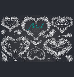 hand drawn floral wedding and holiday collection vector image vector image