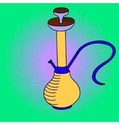 Hookah Pop art vector image