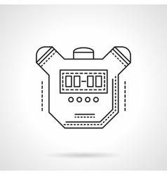 Sport timer flat line design icon vector image
