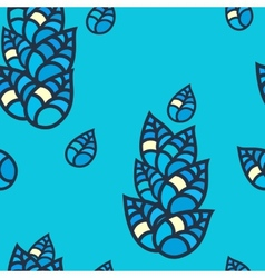 Colorful leaves seamless pattern vector image