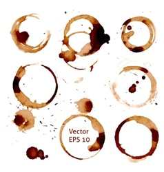 cup of coffee stains on white background vector image