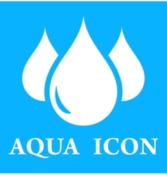 blue icon with three droplet vector image