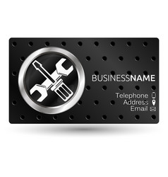 business card for repair vector image vector image