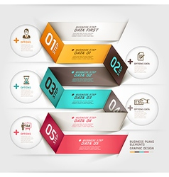 Business diagram origami template vector image vector image
