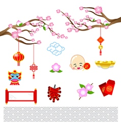 Chinese new year modern art with chinese style for vector image vector image