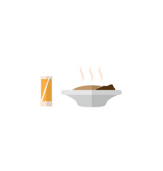isolated food with drink flat icon lunch vector image