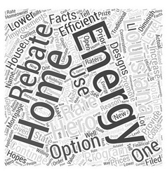 Louisiana home energy rebate option hero word vector