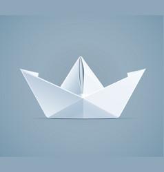 paper origami ship handmade vector image