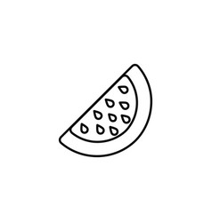 watermelon thin line icon isolated melon berry vector image