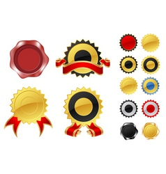 blank labels and wax seals vector image vector image
