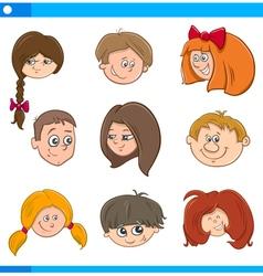 children cartoon characters set vector image vector image