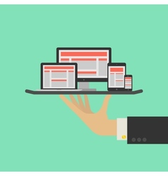 Responsive web design service concept vector
